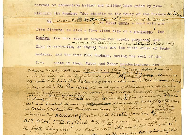 Analysis of the 'Würzburg Manuscript' of The Secret Doctrine