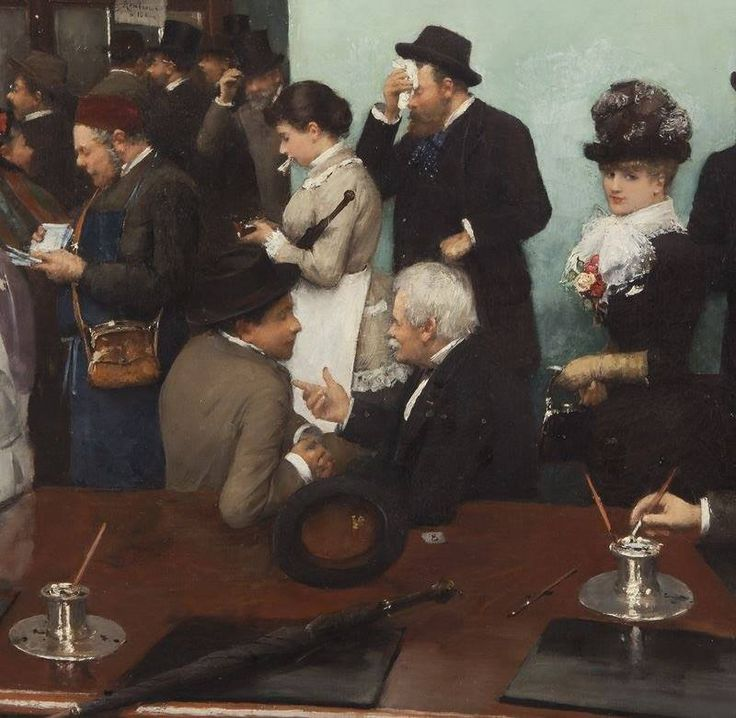 Jean Beraud, People Gathering