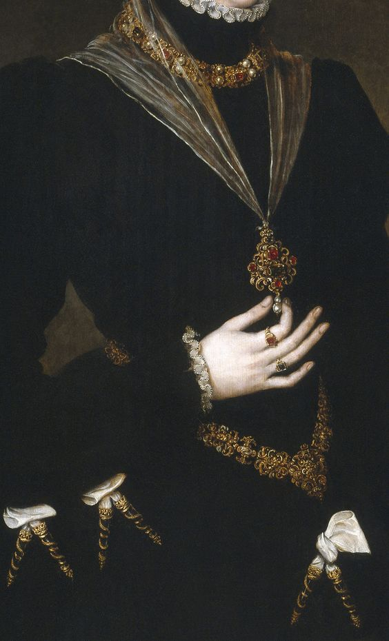 D. Maria de Portugal (detail), 1552, by Antonio Moro