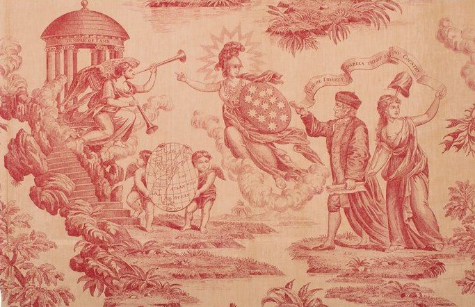 "Minerva leads America in ""The Apotheosis of Benjamin Franklin and GeorgeWashington"""
