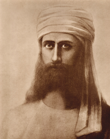 Morya. Portrait by Hermann Schmiechen, London 1884.
